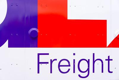 side of a FedEx van.