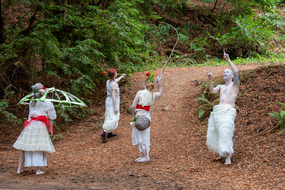 Earthchild Butoh Dancers. #artinnature