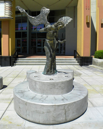 Angel of Brea, in front of the east Edwards Theaters on Birch.