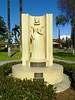 Statue of Madame Helena Modjeska, Polish patriot and actress, in Pearson Park, Anaheim, dedicated on Sept. 15, 1935. By artist Eugen Maier-Krieg. The oldest public art in Orange County.