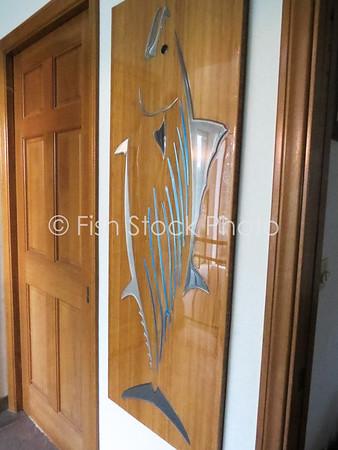 Bonito Metal Art on Bamboo