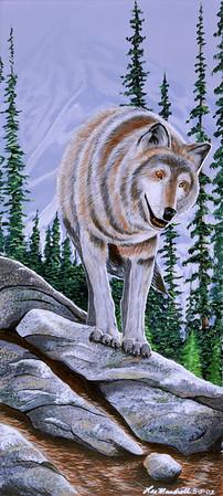 Wolf Acrylic - Illustration Board
