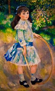 Auguste Renoir -Girl with a Hoop (enhanced color) [NGA]