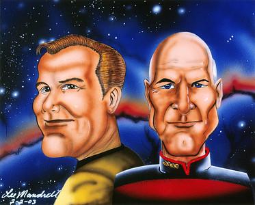 Legendary Captains Acrylic - Airbrush - Masonite