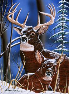 King of the Woods Acrylic - Airbrush - Masonite