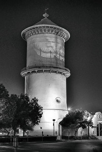 The Fresno Water Tower.  A downtown Fresno landmark.