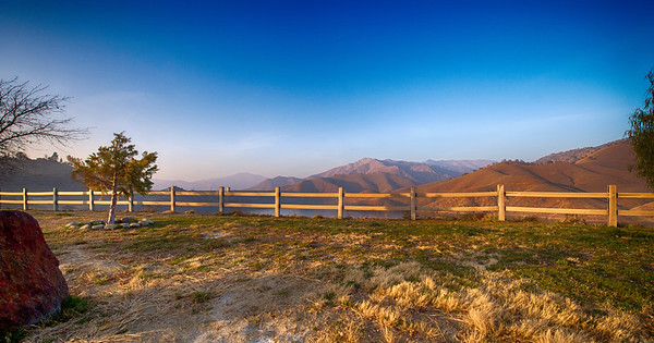 """The Fence"" at Kaweah Lake, Ca."