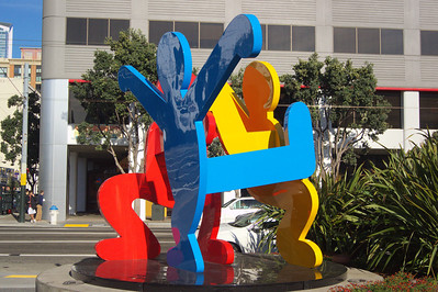 Keith Haring Sculpture - at Moscone Center ref: 1dc69b3e-a5fd-46ad-89fe-8ad66a08365e