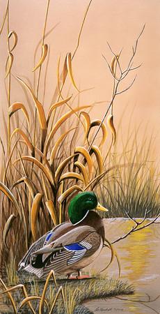 Standing Watch Watercolors - Acrylic - Illustration Board