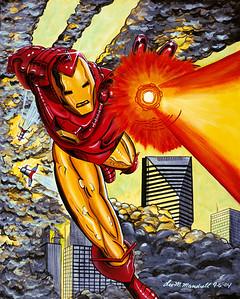 Iron Man Watercolor - Acrylic - Oil - Illustration Board