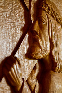 Carving in Mt Angel Abbey church