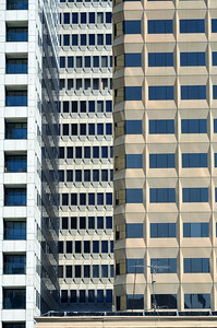 """Windows"" of San Francisco high rise buildings."