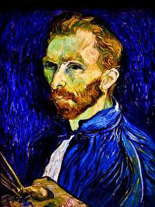 Vincent Van Gogh - self portrait (enhanced color) [NGA]