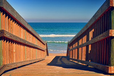 A ramp to the Atlantic Ocean near Flagler Beach, Fl.