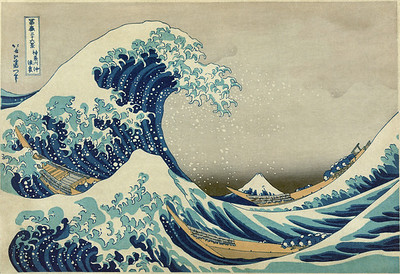 Believe I found this hear. http://en.wikipedia.org/wiki/File:Great_Wave_off_Kanagawa2.jpg It is in the public domain.