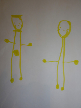 Arthur's Drawings at 4 Years 8 Months Old