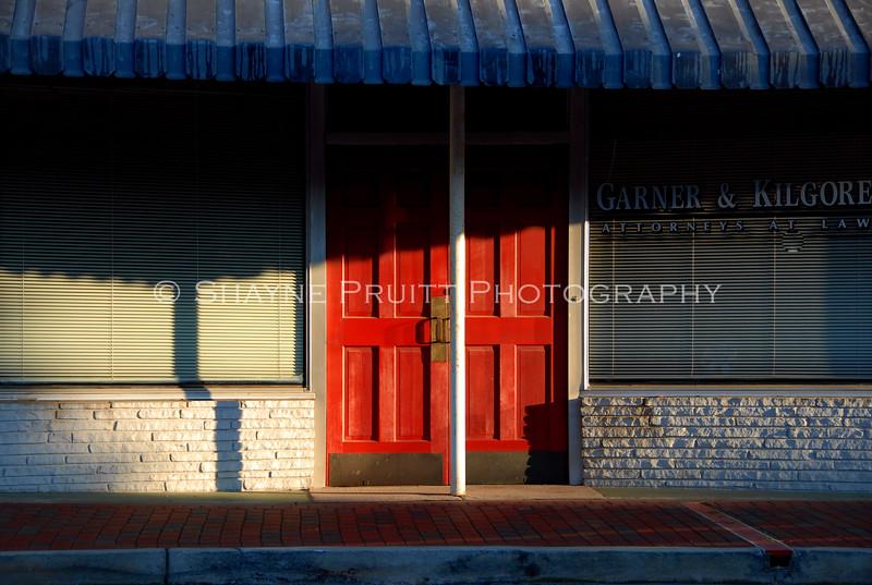 Early Morning Scene, Downtown Buford Georgia