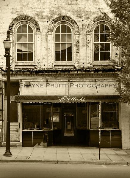 McCulloch's Building Downtown Lexington North Carolina - in Sepia