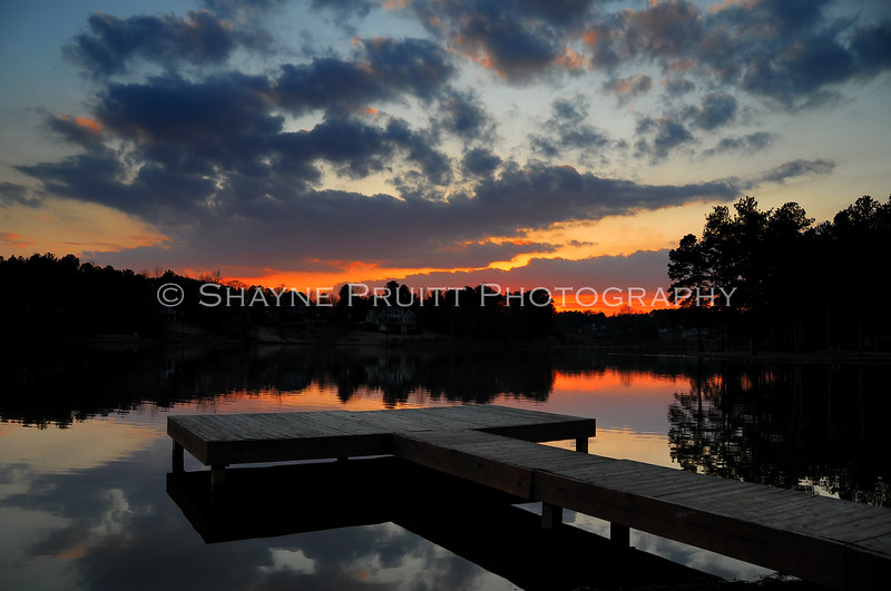 Sunset on Duncans Lake, Buford, Georgia