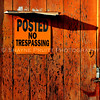 No Trespassing Sign on an Old Building
