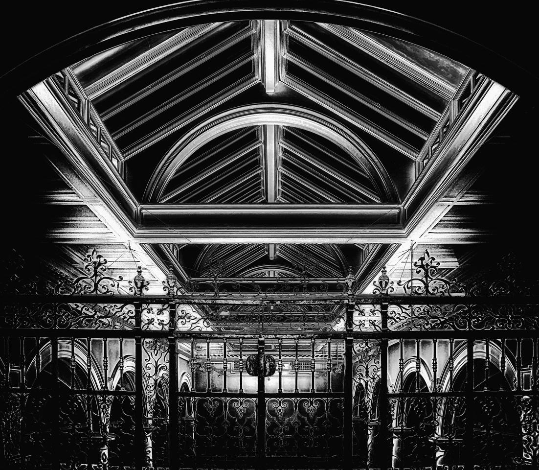 Ceiling light B & W