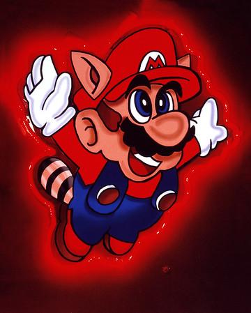 Neon Super Mario