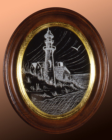 Lighthouse Glass Etching