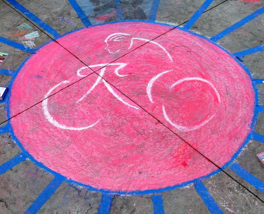 "Chalk Logo- CSC Clarendon Cup Bike Race, VA  6/06 ""Giant Bike Tire"""