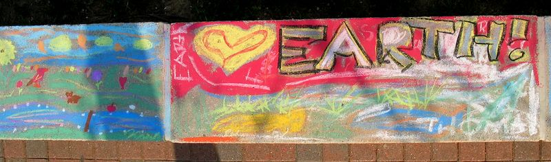 EARTH! Whole Foods Earth Day  Chalk Painting Celebration April '05