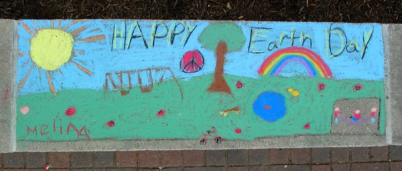 Happy Earth Day Whole Foods Earth Day  Chalk Painting Celebration April '05