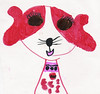 Another adorable picture of Abby made by Elizabeth in February 2008...