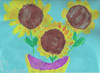 Elizabeth's sunflowers - like Van Gogh!  September 2007, 1st grade