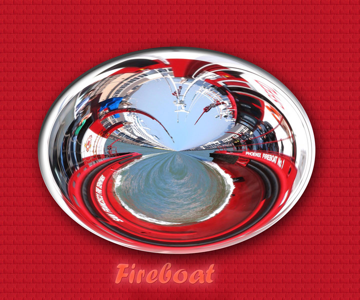 Fireboat orb from San Francisco. Photo taken summer 2005. Used Wendy's orbs and picture of boat to produce this strange picture.