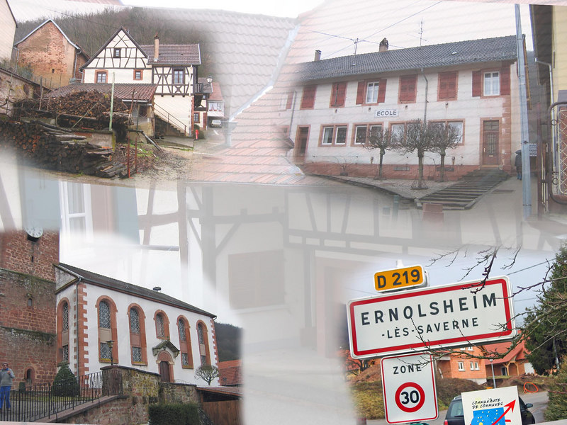 Small town of Ernolsheim, France where some of my ancestors lived.