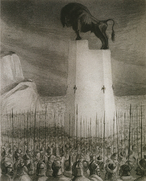 Alfred Kubin, 'The Inspection of The Army' 1902<br /> pen & ink & wash on paper