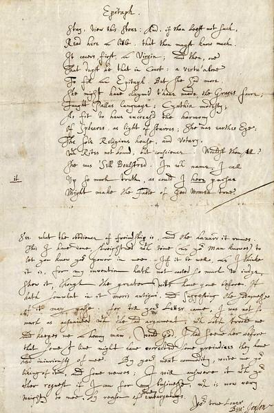Ben Jonson letter