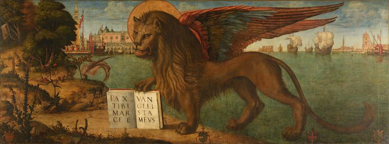 Leone Marciano Andante by Vittore Carpaccio [The Lion of Venice]