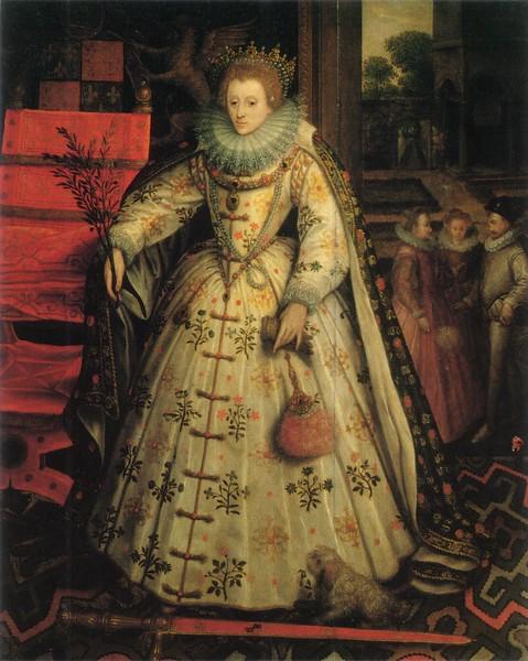 Elizabeth. by Marcus Gheeraerts 1585 Wanstead Welbeck portrait