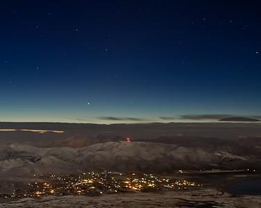 Comet ISON over Washoe Valley