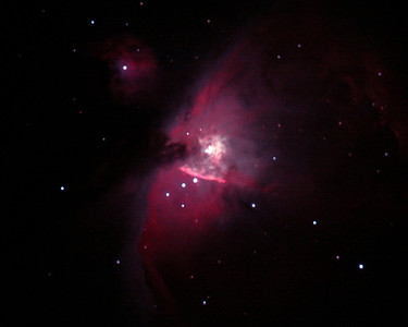 Orion Nebula, two exposures from Prosser Reservoir, CA