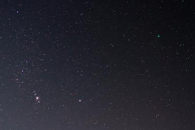Comet Lovejoy C/2014 Q2, Orion