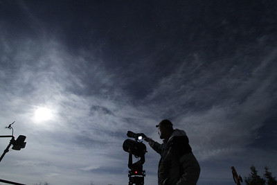 Lunar eclipse setup
