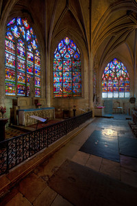 Troyes Sainte-Madeleine Church Ambulatory Windows