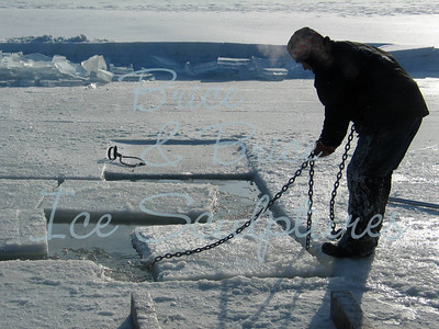 Steve Brice during ice harvest 2009