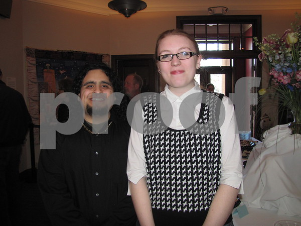 Anthony Calderon and Rachael Smith at the artist reception at the Blanden.