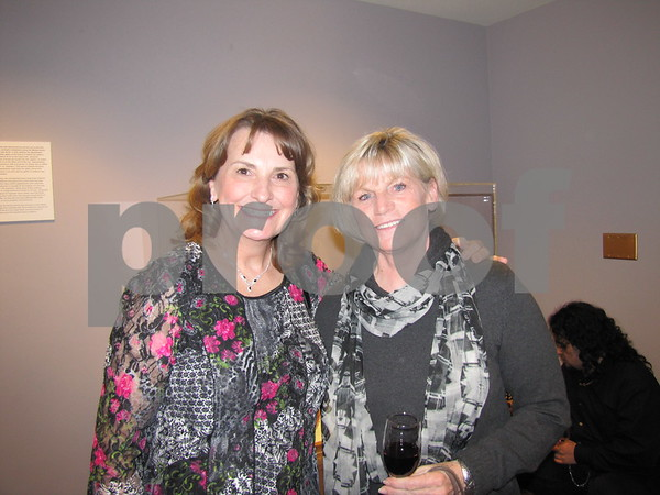 Sandy Wilke and Linda Bradshaw attended the artist talk and reception for Martha Armstrong and Gerald Auten.