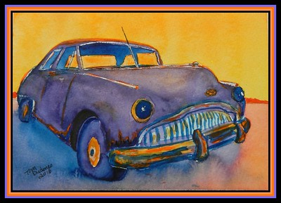 1949 Buick Super, 6x9, watercolor, acrylic & ink, june 19, 2018.