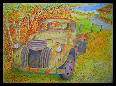 1941 chevy flatbed, 22x30, watercolor,  completed oct 21, 2013.