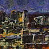 Birmingham, AL at night as painted by Van Gogh