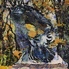 Chopin Statue in Lazienki Park, Warsaw as painted by Van Gogh